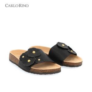 Clover Embellished Cork Sole Sandals