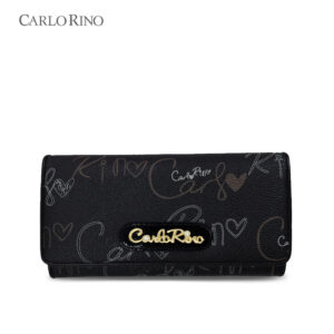 Calligraphy Monogram 2-fold Long Wallet
