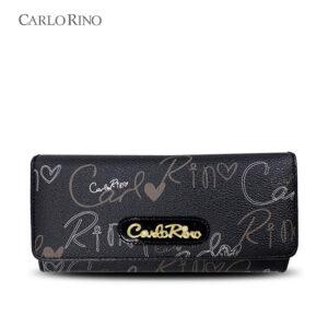 Calligraphy Monogram 3-fold Long Wallet