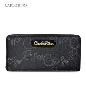 Calligraphy Monogram Zip-around Wallet