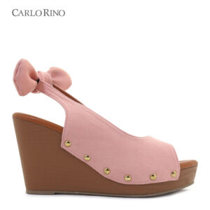 3.5'' Little Bow with Straps Platform Wedges