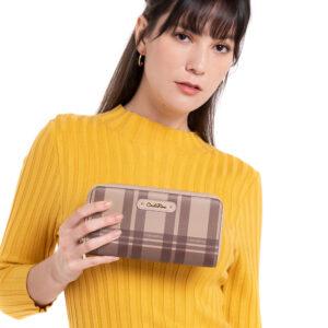 Tartan Is Stylish Double Zipper Wallet