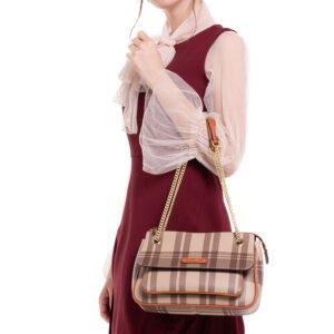 Crossing Lines Shoulder Bag