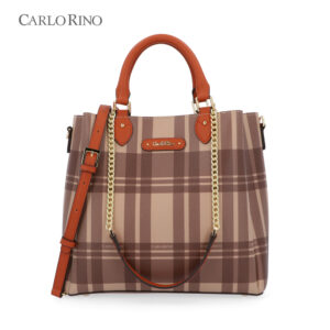 Crossing Lines Top-Handle Bag
