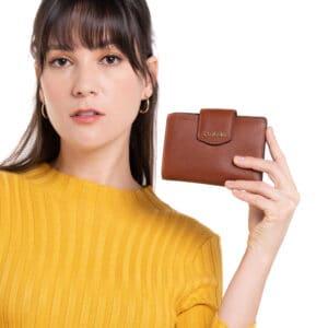 Classy Cognac 2-fold Wallet