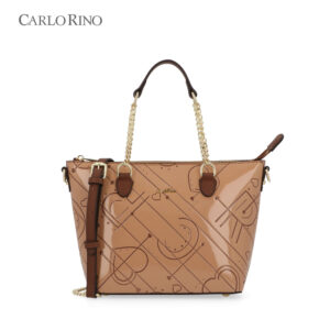 Carved With Love Top-Handled Bag