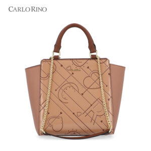 Carved With Love Top-Handled Bag II