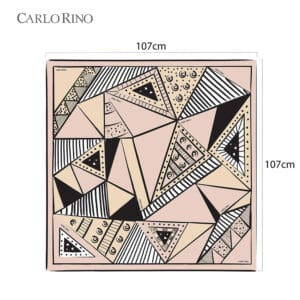 All About Angles Geometric Square Satin Chiffon Scarf